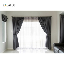 Laeacco Indoor Curtain Windows Backdrop Fold Photography Backgrounds Photocall Photographic Backdrops For Photo Studio стоимость