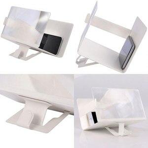 Image 4 - Универсальный мобильный телефон 3D Экран HD видео усилитель увеличительное Стекло Подставка Кронштейн Автомобильный держатель для телефона на магните практичный проектор домашнего кинотеатра