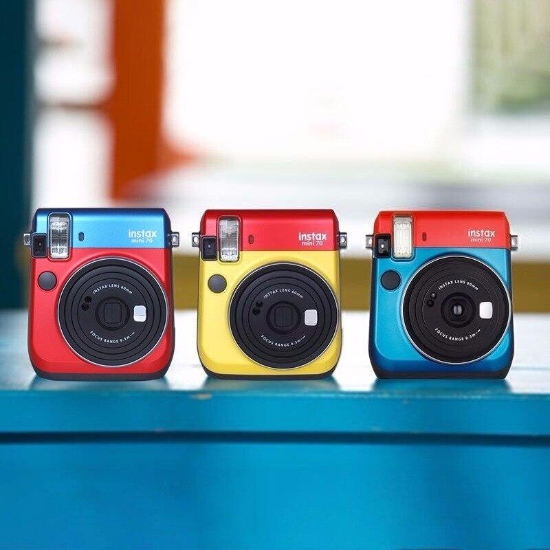6 couleurs bloquant l'appareil Photo instantané Fujifilm Instax Mini 70 rouge noir bleu jaune or blanc - 6