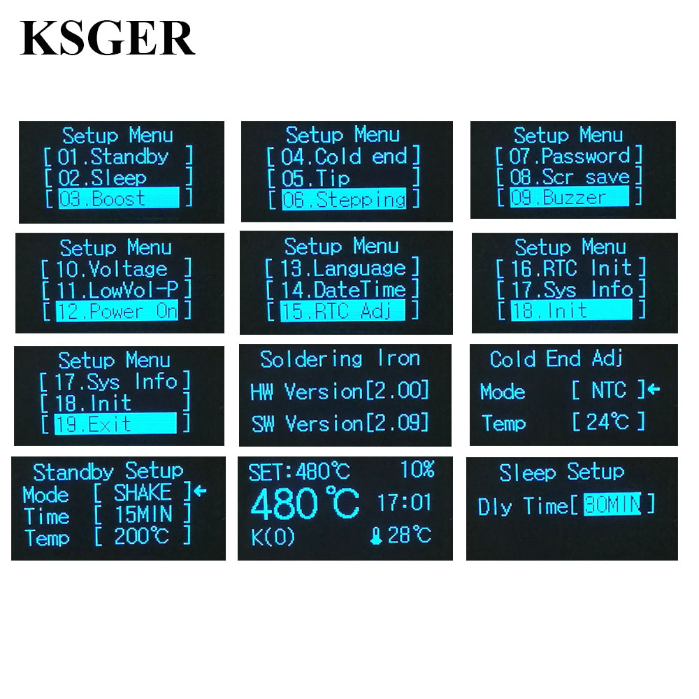 Image 2 - STM32 OLED DIY Kits T12 Solder Electronic Soldering Welding Iron Tips Temperature Controller Wake Sleep Shock 110 240v 72Wsoldering electronicskit t12welding iron - AliExpress