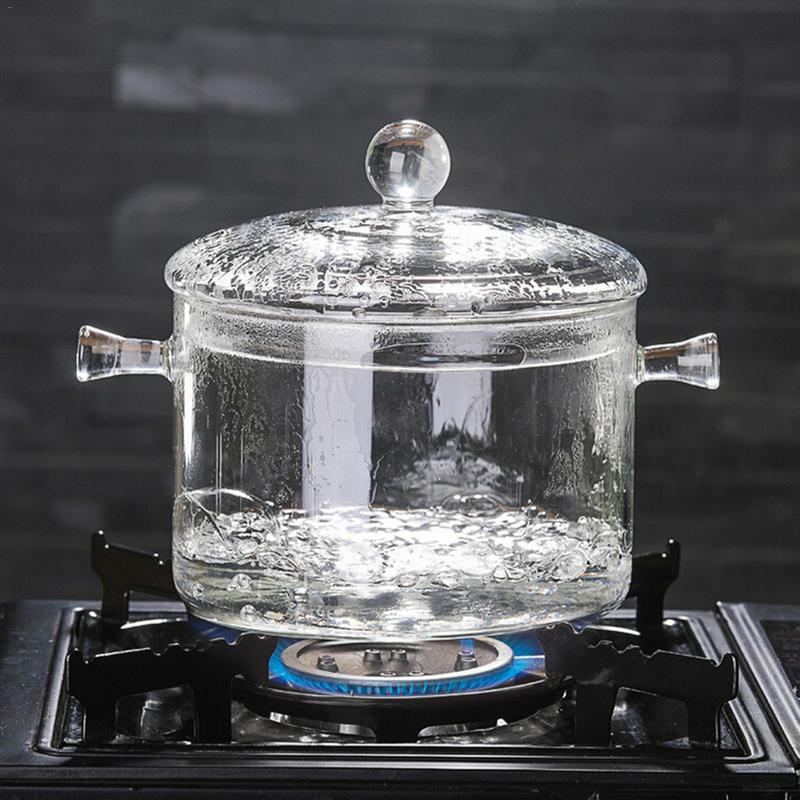 Bowl-Cover Cookware Ceramic-Stove Cooking-Tools Soup-Pot Kitchen-Gadgets Glass Transparent