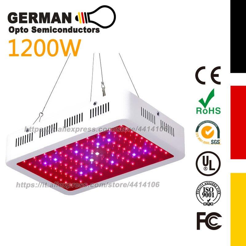 Led élèvent le spectre complet de lumière plus de 1000 w pour les serres d'intérieur de tente la culture hydroponique led 1200 w élèvent la lampe