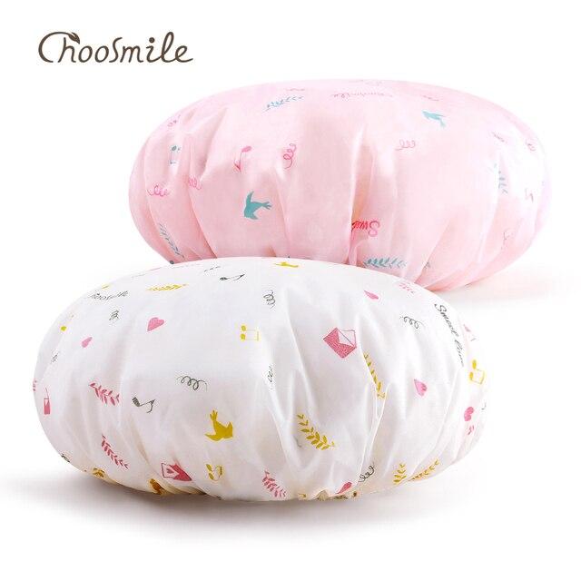 Choosmile 2 adet Su Geçirmez Duş Başlığı Yüksek Kaliteli Yeniden Kullanılabilir Maske saç bonesi Saç Şekillendirici Güzellik Saç Bakımı banyo kabı bayan Şapkaları