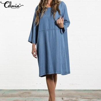3397d9e1c55ac2f Женское джинсовое платье cellia 2019 летнее повседневное свободное ...