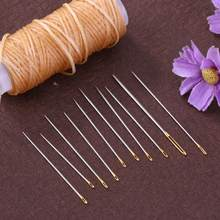 16Pcs/set Large Leather Hand Sewing Needles Gold Eye Needle Embroidery Tapestry Home Wool DIY Sewing Accessories Repair Tools(China)