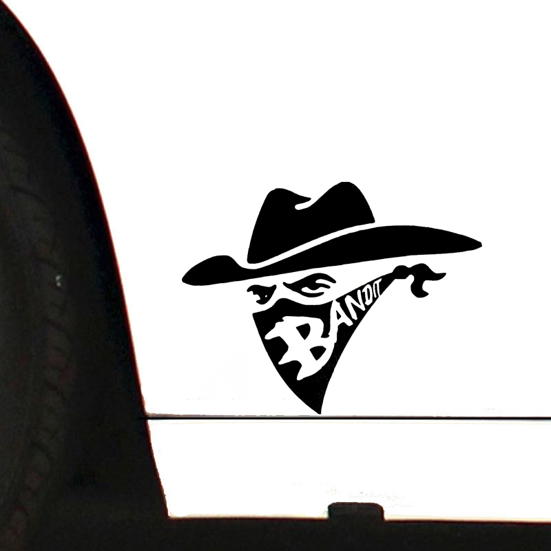 14 5 11cm Bandit With Bandana Sticker Vinyl Decal Adhesive Window Bumper Tailgate in Car Stickers from Automobiles Motorcycles