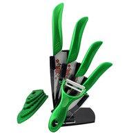 Beauty Gifts kitchen green color knife set Ceramic Knife Set peeler+Covers Knife Set