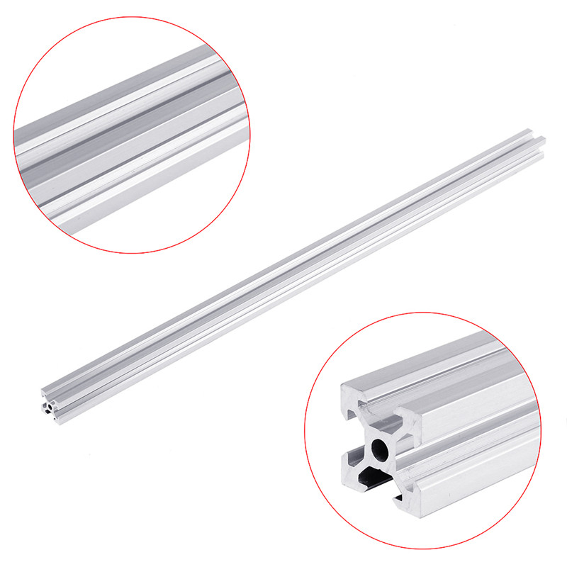 150mm-1000mm Silver 2020 V-Slot Aluminum Profile Extrusion Frame Section Size 20x20mm For CNC Laser Engraving Machine