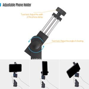 Image 4 - Andoer Professionale Dual Palmare Smartphone Fotografiche Supporto Della Staffa Cage Rig Fai da Te Del Telefono Video Stabilizzatore con Il Telefono Morsetto