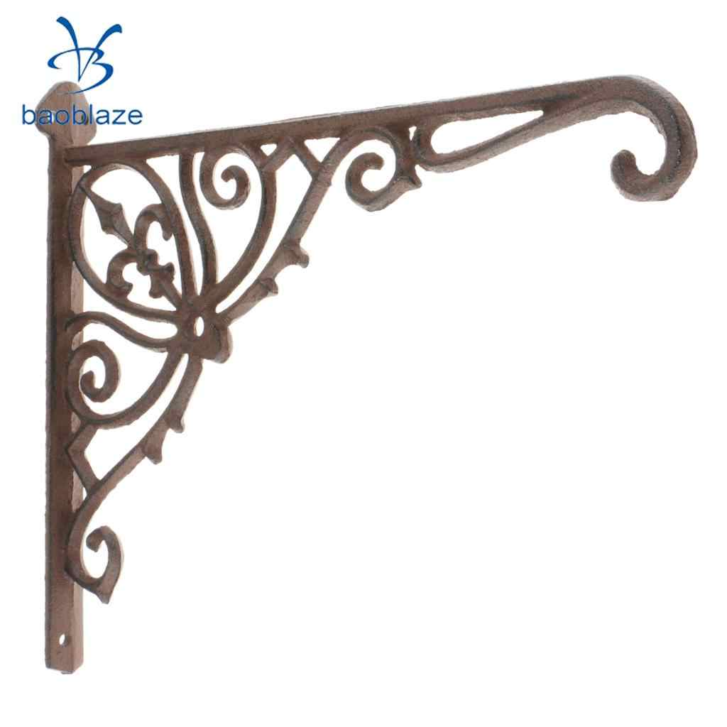 Antique Cast Iron Heavy Duty Metal Shelf Brackets Wall Mounted Support Display Holder Home Decor