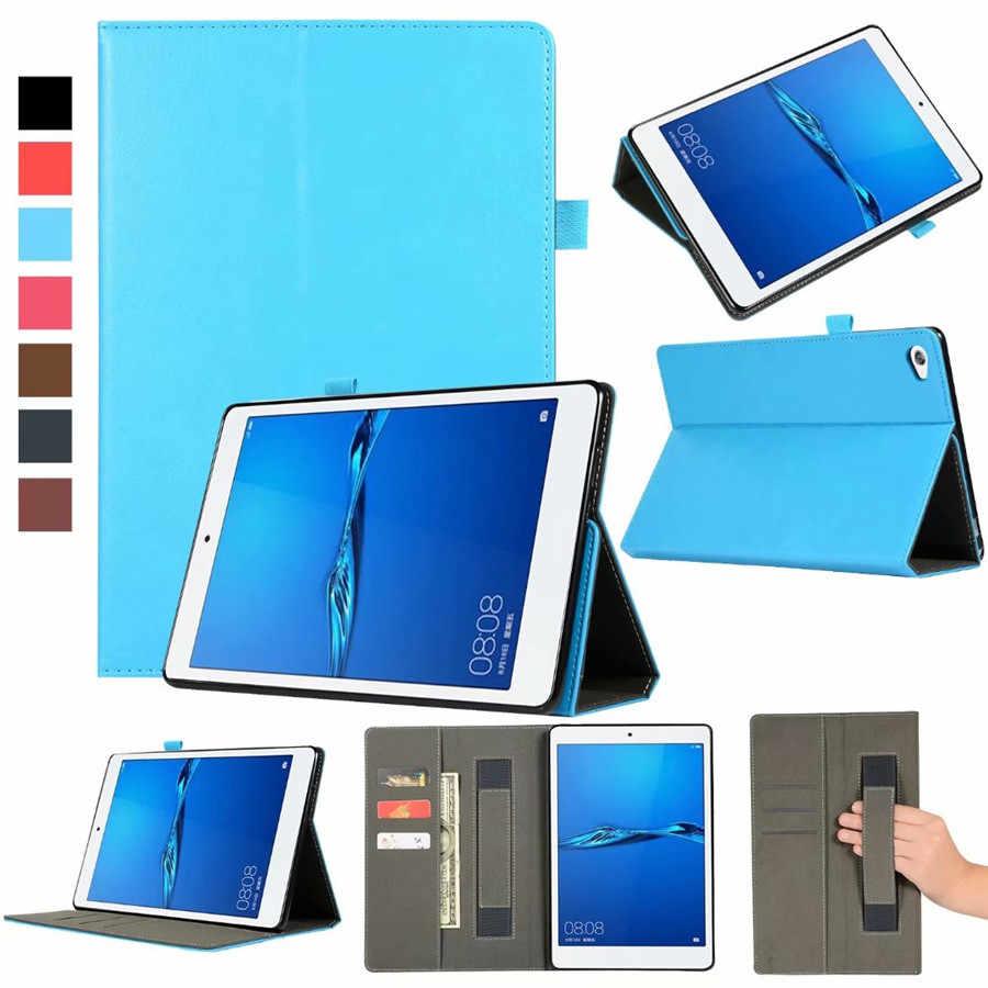 لهواوي MediaPad C5 10.1 بوصة BZT-W09/BZT-AL00 الذكية جراب كمبيوتر لوحي غطاء لهواوي C5 10 اليد حامل حامل شل + القلم