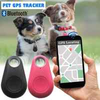 Pets Smart Mini GPS Tracker Anti-Lost Bluetooth Automatic Wireless Tracer For Pet Dog Cat Keys Wallet Bag Kids Trackers