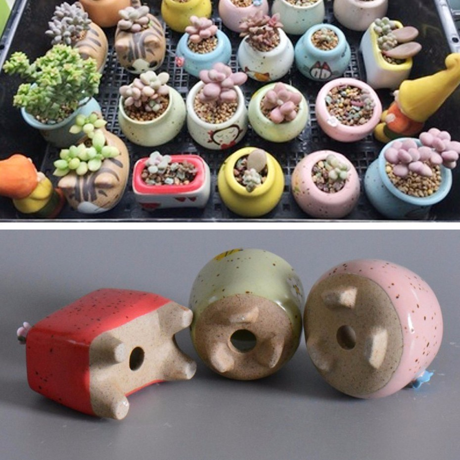 34 Style Mini Shaped Succulent Flower Pot For Succulents Fleshy Plants Flowerpot Ceramic Small Home/Garden/Office Decoration