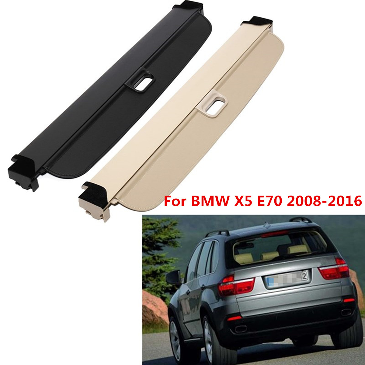 for Dodge Journey 2009-2019 5-Pass Rear Trunk Retractable Cargo Luggage Cover