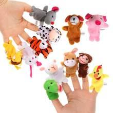 цена на 12Pcs/Set Stuffed Doll Chinese Zodiac Finger Animal Puppets Animal Plush Toy Soft Cloth Telling Story Baby Toys Multifunctional