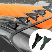 10Pcs Shark Fin Wing Diffuser Vortex Generator Universal Car Roof Spoiler Bumper Carbon Fiber Tail