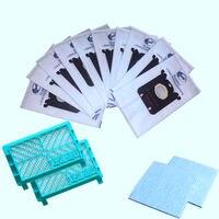 Hot sale 14 Pack Hepa Filter Dust Bag Set S Bag For Vacuum Cleaner Philips Fc8408 Fc8613 Fc8606 Fc8716 Fc8732 Fc8915 Hr8568 Cl