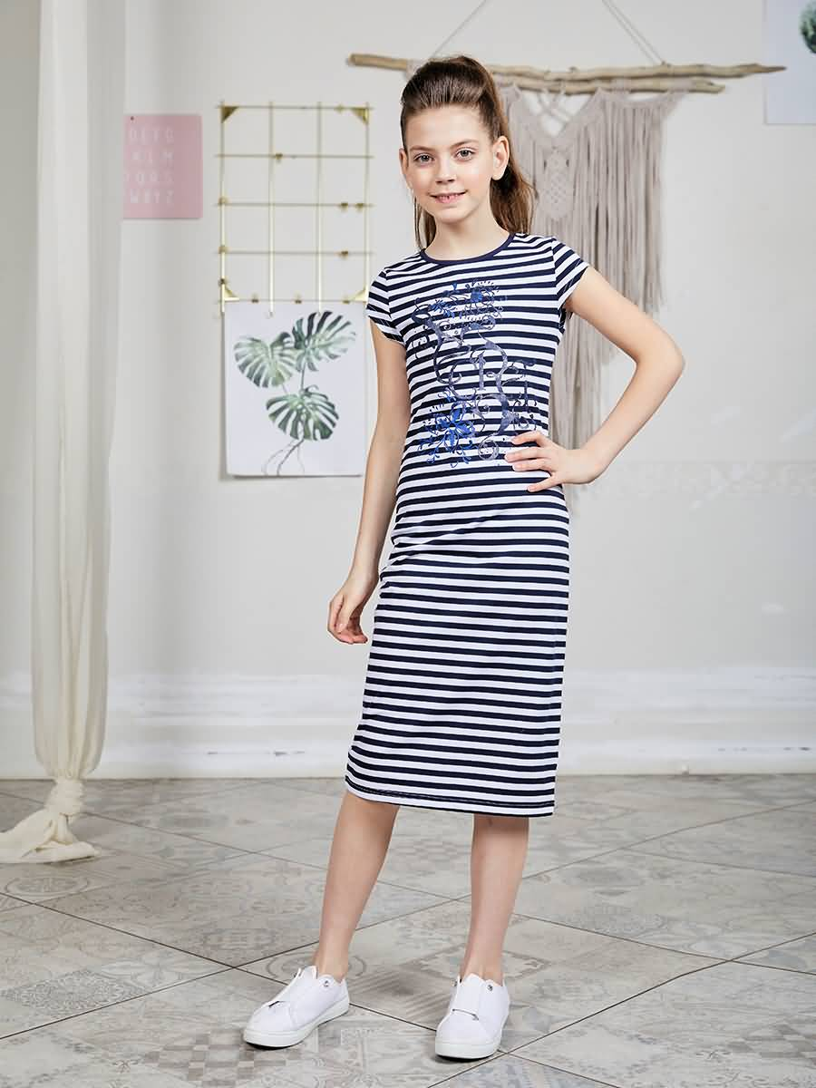 Dress knitted Luminoso for girls girls zip back appliques armhole dress
