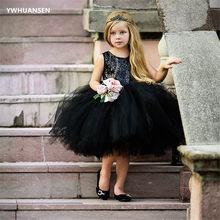 YWHUANSEN – robe de mariée fantaisie pour enfants, manches longues, paillettes, tenue de soirée pour filles, vêtements d'été, 2018