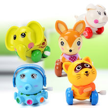 5 pcs Estilos Crianças Engraçado Colorido Mini Polvo Dos Desenhos Animados Animal Wind up Clockwork Toy/Cat/Cervos/Elefante /porco Brinquedo Aprendizagem Precoce(China)