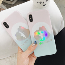 For iphone 8 case silicone cover Retro girl Couple cute anime Phone Case for coque iPhone 7 Plus 6 6S X XR XS MAX