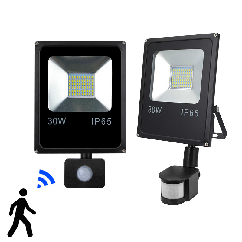 10W20W30W  Refletor LED Flood Light Searchlight With Pir Motion Sensor 220v Floodlight Waterproof Outdoor Lighting Factory Price