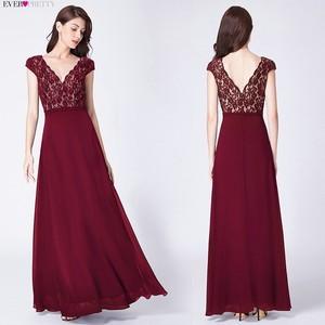 Image 3 - אי פעם די Robe De Soiree 2020 ארוך תחרה ערב שמלות אלגנטי קו V צוואר קצר שרוולים שחור צד פורמלי שמלות EP07344BK
