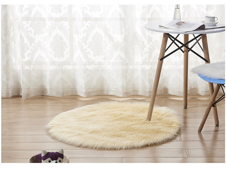 Us 1 6 20 Off Plush Hand Wash Large Carpet Area Rug Thicken Mat Seat Cover Chair Sofa Machine Vacuum Solid White In