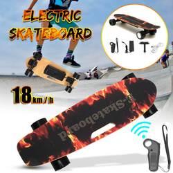 Elektrische Skateboard vierwiel Longboard Skate Board Maple Deck Draadloze Afstandbediening Voor Volwassen Kinderen