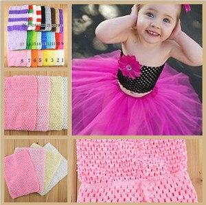 Retail New 20cmX23cm Girl 9inch Crochet Tutu Tube Tops Chest Wrap Wide Crochet headbands Christmas gift drop shipping