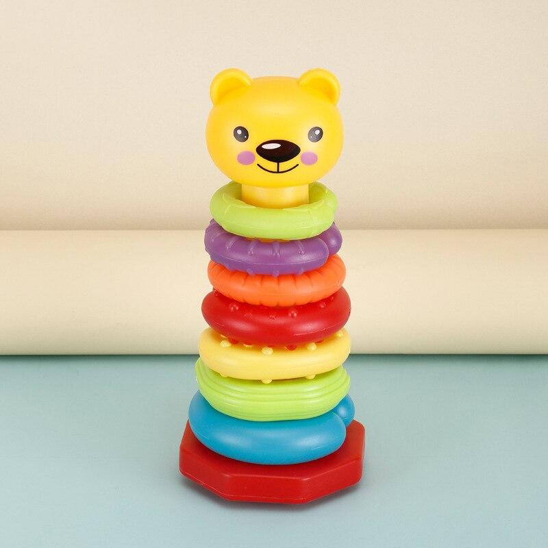 1 Stücke Kunststoff Regenbogen Kreis Spaß Baby Frühe Bildung Puzzle Baby Spielzeug 0-12 Monate Bausteine 18,5 Cm Puppen Interaktion Gut FüR Energie Und Die Milz