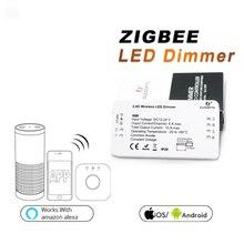 1х умный Диммер Беспроводной светодиодный диммер 12-24 В для Zigbee APP белый части питания светодиодный контроллер инструменты HJ беспроводной светодиодный диммер