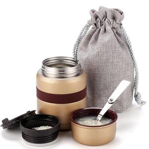 Image 1 - 4 couleurs pour la nourriture chaude 350mL avec des récipients thermos Thermoses acier inoxydable mini boîte à déjeuner thermo tasse flacons sous vide