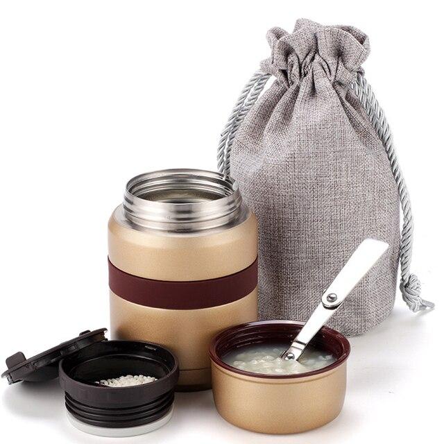 4 couleurs pour la nourriture chaude 350mL avec des récipients thermos Thermoses acier inoxydable mini boîte à déjeuner thermo tasse flacons sous vide
