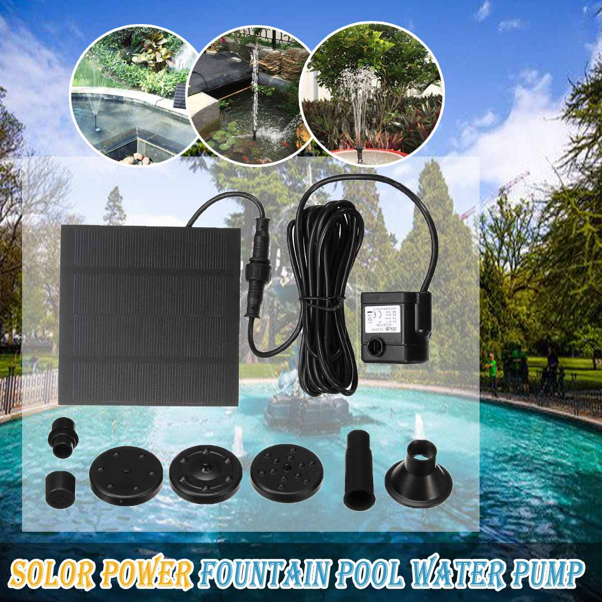 Solar Power Floating Fountain Water Pump for Garden Landscape Pond Pool Fish Tank Pool Garden Solar Power Decorative FountainSolar Power Floating Fountain Water Pump for Garden Landscape Pond Pool Fish Tank Pool Garden Solar Power Decorative Fountain