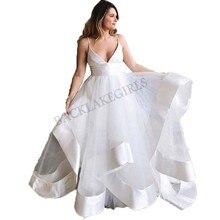 Simple Bride Dress 2019 Wedding Dresses Sleeveless Backless