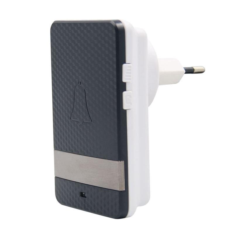Wireless Intelligent Doorbell Waterproof Design Self-generating Doorbell EU Plug
