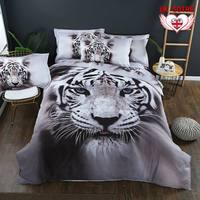Tiger Duvet Quilt Cover Set Queen Size Animal Bed Pillow Cases 3D Animal Bed Cover Bedding Sets Quvet Cover Pillowcases Cover