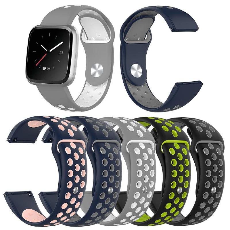S/L Size Soft Silicone Watch Band Bracelet For Fitbit Versa Band Breathable Wrist Strap Replacement For Fitbit Versa Lite/Versa