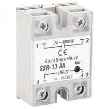 цена SSR-10 AA 10A Solid State Relay Module SSR AC-AC Input 90-250V AC Output 24-480V AC Solid State Relay онлайн в 2017 году