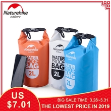 Naturehike 2L 5L Swimming Waterproof Bag Camping Beach Bags PVC Hermetic Bags For Tourism Rafting Ultralight Phone Dry Bag