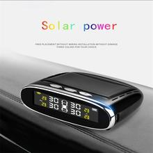 Automotive tire pressure monitor built-in automotive universal solar charged color screen wireless detector