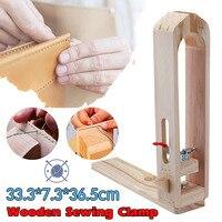 Дерево Швейные Инструменты Leather Craft клипса DIY ручной инструмент набор Настольный шнуровка, брошюрование лошадь пони Зажимные инструменты
