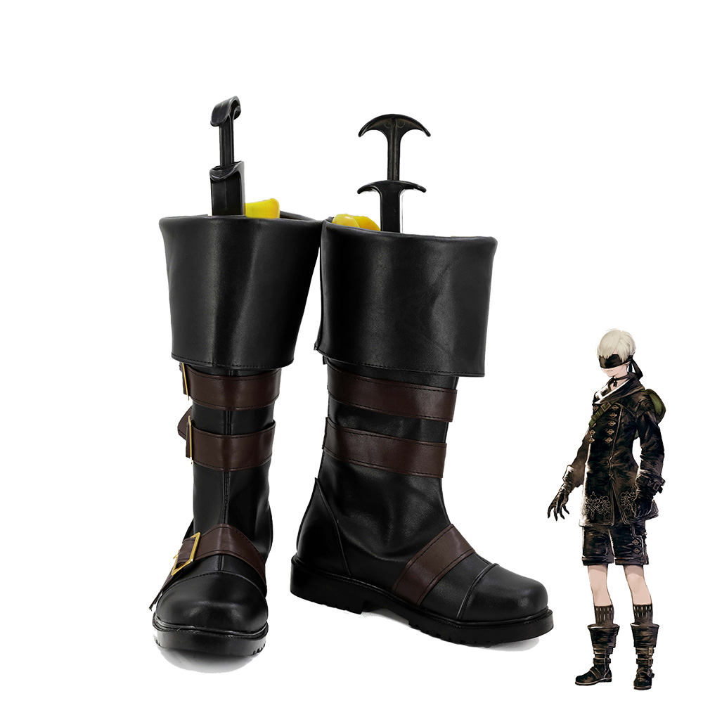 NieR Automata YoRHa 9s Men Cosplay Boots Shoes Handmade
