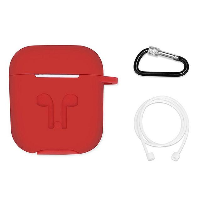 Silicone Soft Protective Case Wireless Bluetooth Earphones Cover Lanyard Anti drop Dust proof Portable Mini Bag For Airpods