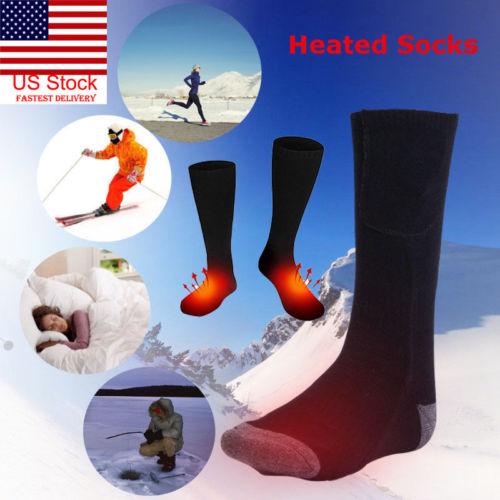 2019 New Winter Heated Stocking Skiing Chargable Battery Electric Heated Socks Boot Feet Warmer Winter Outdoor Sportwear