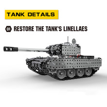 952pcs Assembles Toy RC Battle Tank Building Blocks Educational Toys Stainless Steel Remote Control RC Toy Gift for Kids Boys(China)