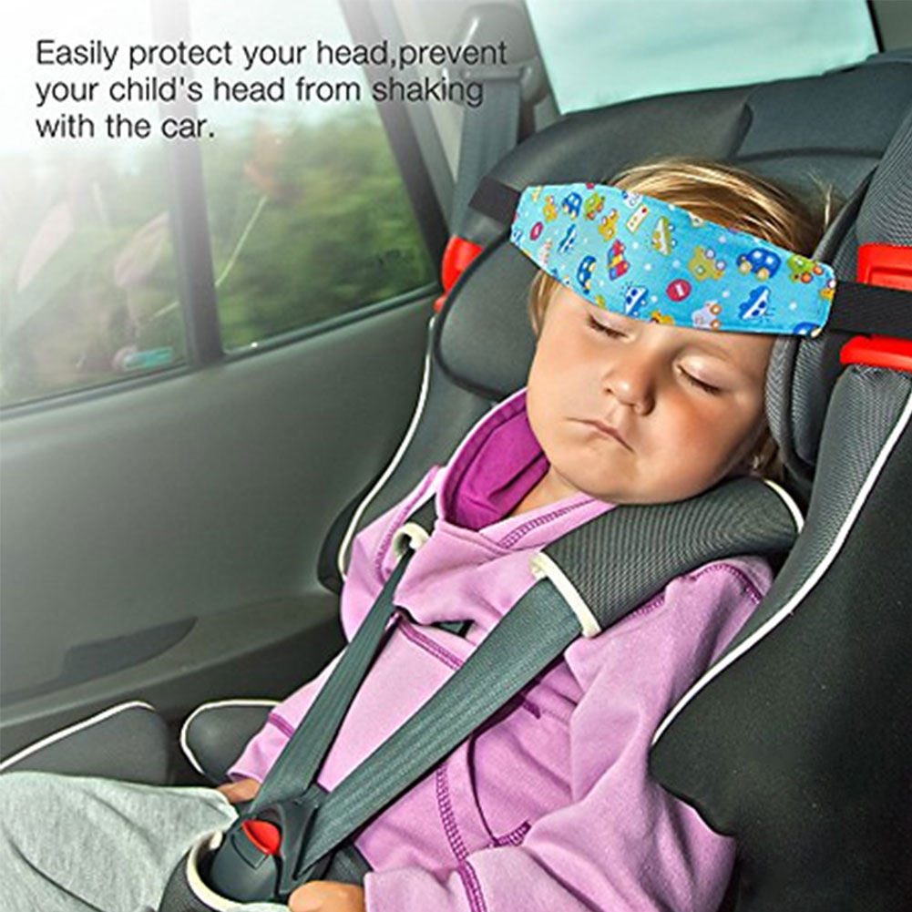 Купить с кэшбэком Child Safety Seat Baby Car Safety Seat Head Fixing Auxiliary Cotton Belt Pram Secure Strap Doze Band for Baby Pram