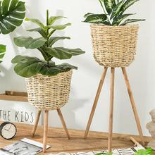 Украшение сада напольная ваза подставка для растений плетеная подставка для цветочного горшка подставка для горшков деревенский Декор горшок для садового растения принадлежности