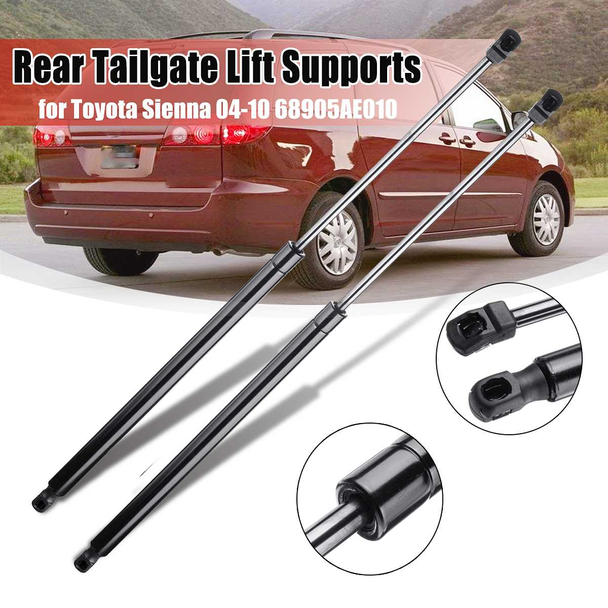 2Pcs Car Rear Trunk Tail Gate Tailgate Supports Strut Rod Arm Shocks Spring Bars 68905AE010 SG229013 For Toyota Sienna 2004-20102Pcs Car Rear Trunk Tail Gate Tailgate Supports Strut Rod Arm Shocks Spring Bars 68905AE010 SG229013 For Toyota Sienna 2004-2010